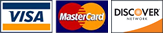 Accepting Visa, MasterCard and Discover